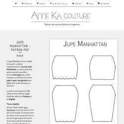 Jupe Manhattan - Patron PDF gratuit / Anne Ka Couture - Patrons de couture