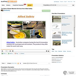 The Best of Sewer Manhole Services from Allied Safety