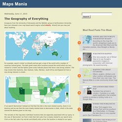 Maps Mania: The Geography of Everything