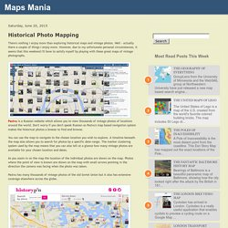 Historical Photo Mapping