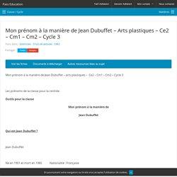 Mon prénom à la manière de Jean Dubuffet – Arts plastiques - Ce2 – Cm1 – Cm2 – Cycle 3