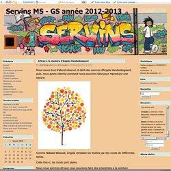 Arbres à la manière d'Angela Vandenbogaard - Servins MS - GS année 2012-2013