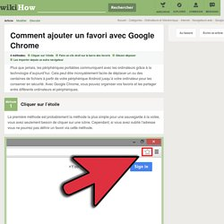 4 manières de ajouter un favori avec Google Chrome