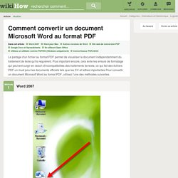 8 manières de convertir un document Microsoft Word au format PDF