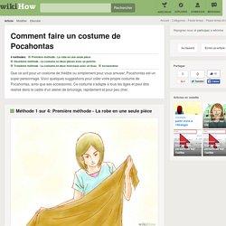 4 manières de faire un costume de Pocahontas