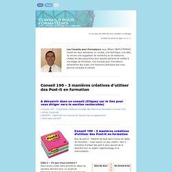 Conseil 190 - 3 manières créatives d'utiliser des Post-it en formation