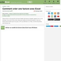 3 manières de créer une facture avec Excel