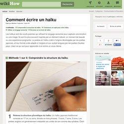 4 manières d'écrire un haïku