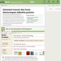 3 manières de trouver des livres électroniques (eBooks) gratuits