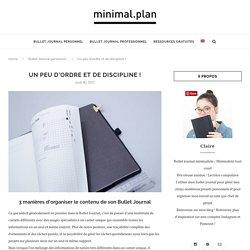 3 manières d'indexer le contenu de son Bullet Journal - Minimal.Plan