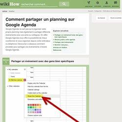 5 manières de partager un planning sur Google Agenda