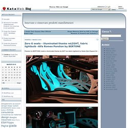 Blog - Innovare e rinnovare prodotti » Blog Archive » Zero G seats - illuminated thanks reLIGHT, fabric lightbulb -Alfa Romeo Pandion by BERTONE