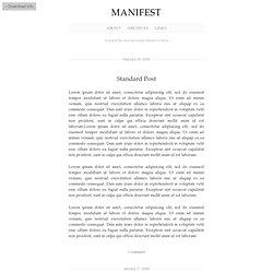 Manifest Demo