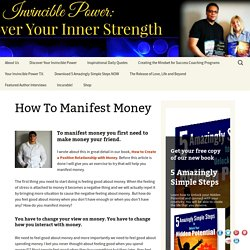 How to Manifest Money -Secrets to Manifest Money Fast