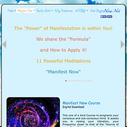 Manifest Now Course at Now.Net