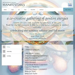 manifest2013 | a co-creative gathering of positive energies