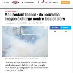 Manifestant blessé: de nouvelles images à charge contre les policiers