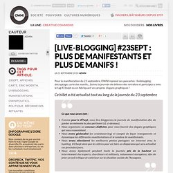 [live-blogging] #23sept : plus de manifestants et plus de manifs ! » Article » OWNI, Digital Journalism