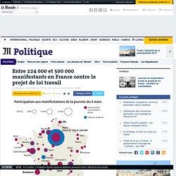 Entre 224000 et 500000 manifestants en France contre le projet de loi travail