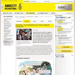 Cambodge : onze manifestants pour le droit au logement emprisonnés