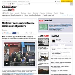 Montreuil : nouveaux heurts entre manifestants et policiers