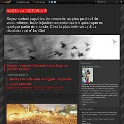 Égypte : deux manifestants tués à Suez, un policier au Caire
