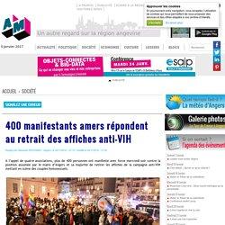 400 manifestants amers répondent au retrait des affiches anti-VIH