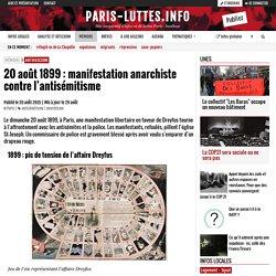 20 août 1899 : manifestation anarchiste contre l'antisémitisme