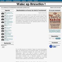 Manifestation en faveur du droit à l'avortement - Wake up Bruxelles