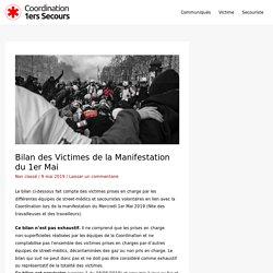 Bilan des Victimes de la Manifestation du 1er Mai – Coordination 1ers Secours France