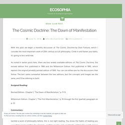 The Cosmic Doctrine: The Dawn of Manifestation - Ecosophia