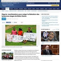 Nigeria: manifestation pour exiger la libération des lycéennes otages de Boko Haram