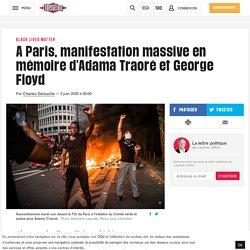 A Paris, manifestation massive en mémoire d'Adama Traoré et George Floyd