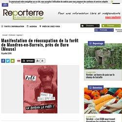 Manifestation de réoccupation de la forêt de Mandres-en-Barrois, près de Bure (Meuse)