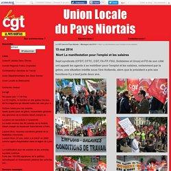 Niort La manifestation pour l'emploi et les salaires - La CGT dans le Pays Niortais