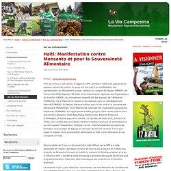 Haïti: Manifestation contre Monsanto et pour la Souveraineté Alimentaire