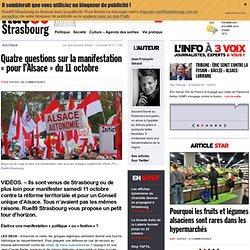 """Quatre questions sur la manifestation """"pour l'Alsace"""" du 11 octobre"""