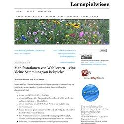 Manifestationen von WebLernen – eine kleine Sammlung von Beispielen
