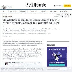 Manifestations qui dégénèrent : Gérard Filoche relaie des photos éculées de «casseurs policiers »