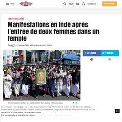 Manifestations en Inde après l'entrée de deux femmes dans un temple