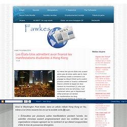 Les États-Unis admettent avoir financé les manifestations étudiantes à Hong Kong