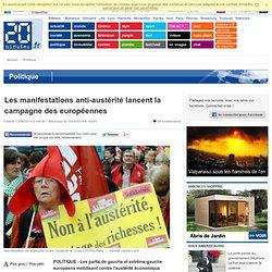 Les manifestations anti-austérité lancent la campagne des européennes