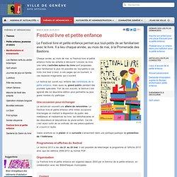Festival livre et petite enfance-Manifestations et événements-Petite enfance, jeunesse et loisirs-Thèmes