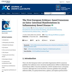 First European Evidence-based Consensus on Extra-intestinal Manifestations in Inflammatory Bowel Disease