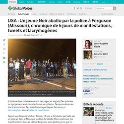 USA : Un jeune Noir abattu par la police à Ferguson (Missouri), chronique de 6 jours de manifestations, tweets et lacrymogènes