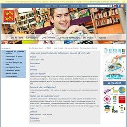 Aide aux manifestations littéraires, salons et festivals - Guide des aides - LA REGION +