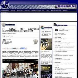ACTA: De nouvelles manifestations s'organisent !