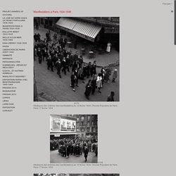 Pierre Jamet: photographe manifestations-a-paris-1934-1938
