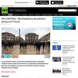 EN CONTINU : Manifestations de policiers partout en France