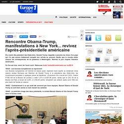 Rencontre Obama-Trump, manifestations à New York... revivez l'après-présidentielle américaine